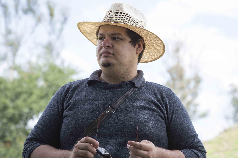Erick González Rizo, autor del libro Cuando las piedras hablan. Un catálogo de las manifestaciones rupestres del centro de Jalisco.
