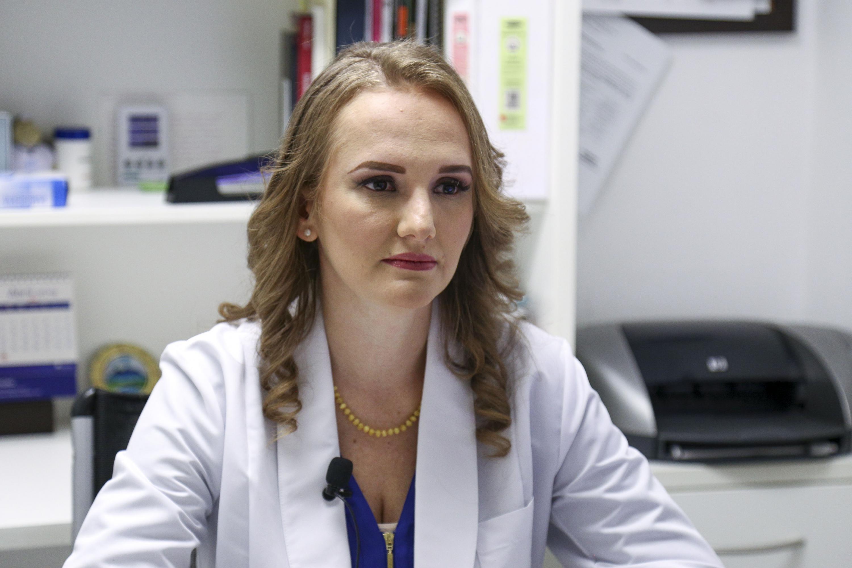 La académica del Instituto de Terapéutica Experimental y Clínica del CUCS, de la Universidad de Guadalajara, doctora Lizet Yadira Rosales Rivera.
