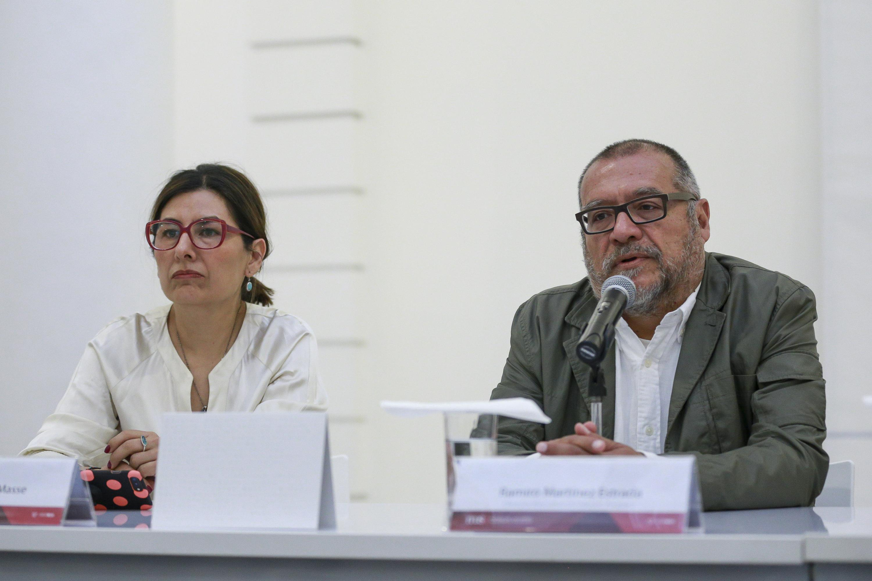Ramiro Martínez Estrada, Director del Museo Amparo, haciendo uso de la palabra durante rueda de prensa.