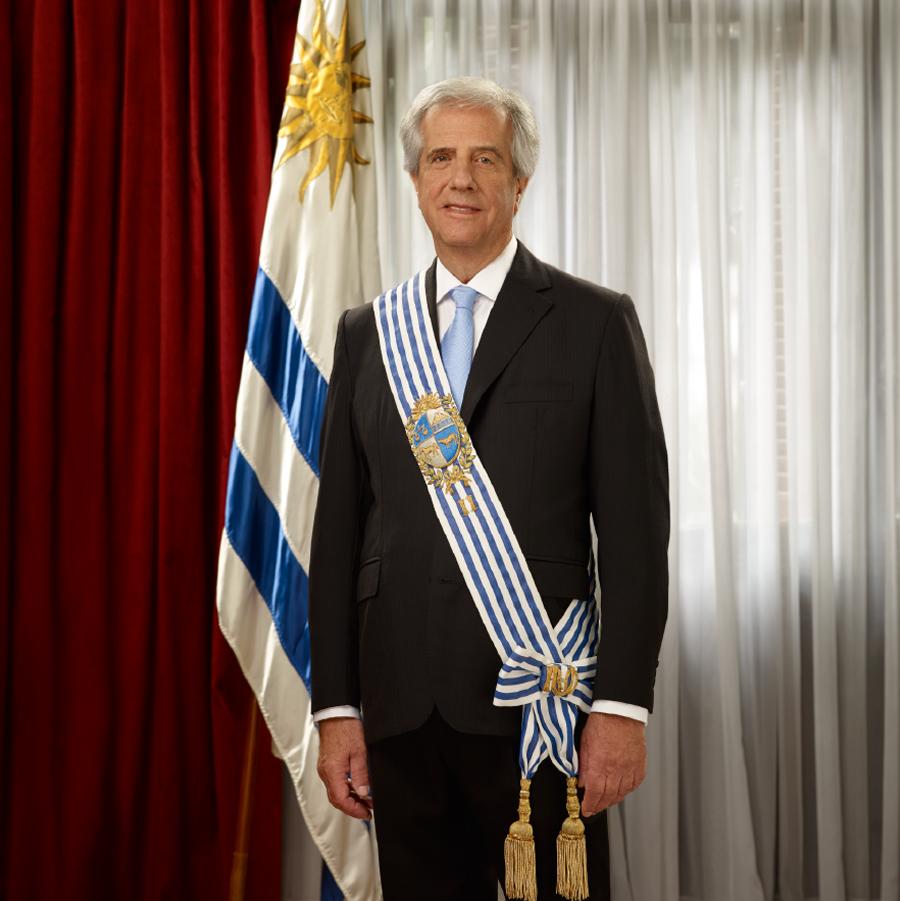 Tabaré Ramón Vázquez Rosas, Presidente de la República Oriental del Uruguay.