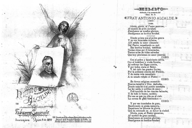 Facsimilar del Himno a Fray Antonio Alcalde y Barriga