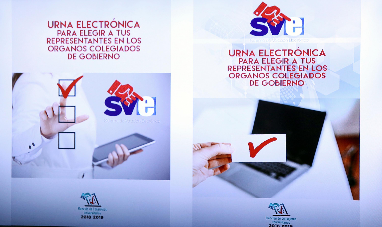 Cartel informativo sobre la urna electrónica