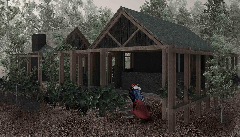 Representación arquitectónica digital de la casa