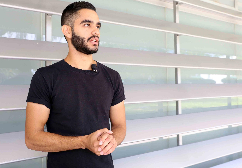 Diego Malo Araiza, estudiante de la licenciatura en Arquitectura del Centro Universitario de Arte, Arquitectura y Diseño (CUAAD),