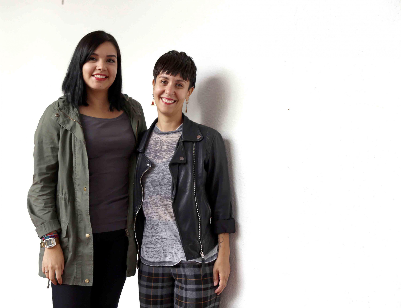 Karina Perez y Angelica Zuno fueron retratadas para los medios de comunicación