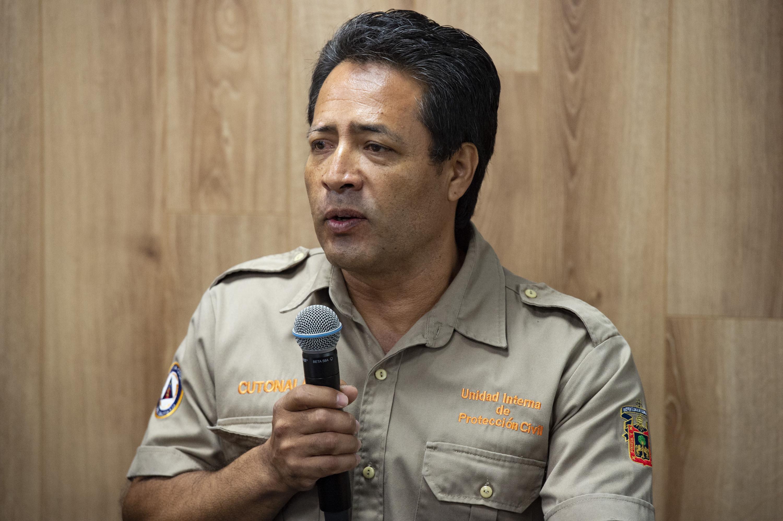 Capacitador de la citada unidad, licenciado Juan Andrés Meza Rojas