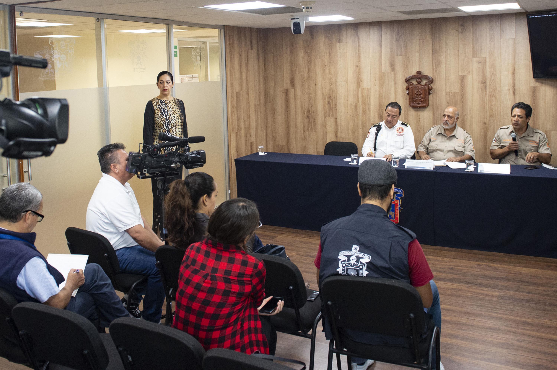 Rueda de prensa para anunciar el diplomado en Gestión de Riesgos y Protección Civil, en el Centro Universitario de Tonalá (CUTonalá) de la UdeG.