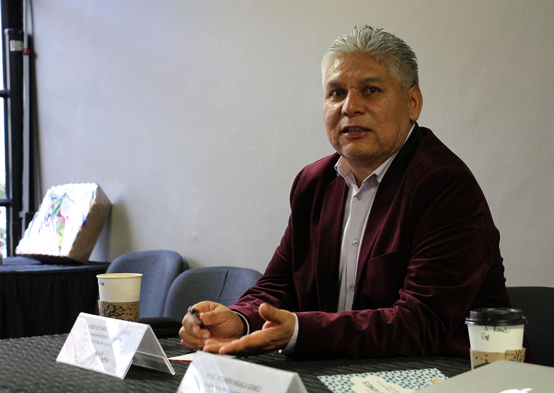 Óscar Rodríguez, Director de la Compañía de Teatro del plantel.