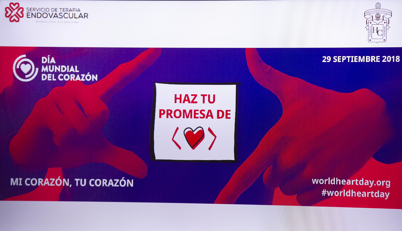 Haz una promesa de corazón se lee en una imagen de las proyecciones