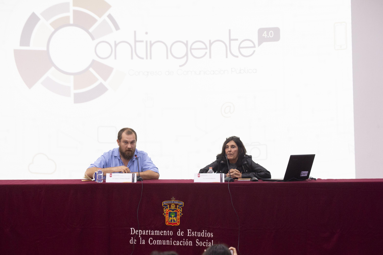 Celebración del  congreso Contingente 4.0, de Comunicación Pública, dentro de las instalaciones del Centro Universitario de Ciencias Sociales y Humanidades.