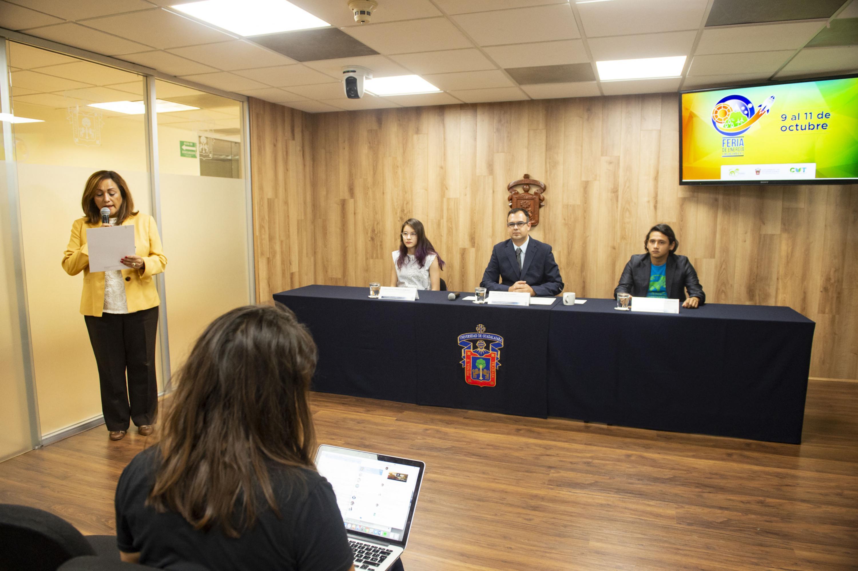 Rueda de prensa para anunciar la primera edición de la Feria de Energía y Medio Ambiente, que tendrá lugar en el Centro Universitario de Tonalá (CUTonalá) de la UdeG, del 9 al 11 de octubre