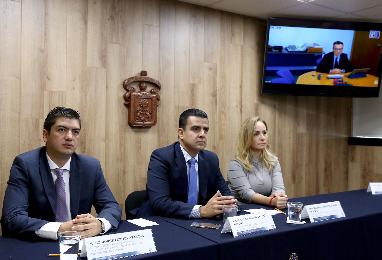 Rueda de prensa para anunciar que La Universidad de Guadalajara (UdeG) será la sede de este encuentro de la Red Mexicana de Supercómputo (Redmexsu), en el que participarán académicos de universidades mexicanas y extranjeras.