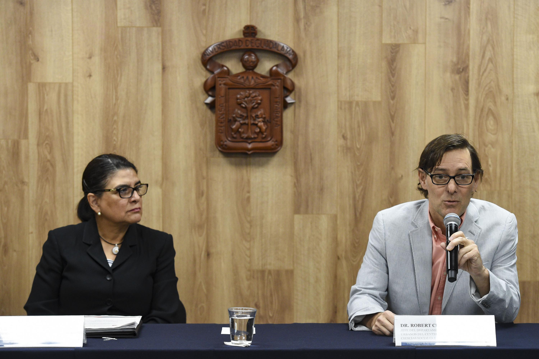 Dos investigadores del CUCSH realizaron la prensentacion del evento a realizarse en octubre