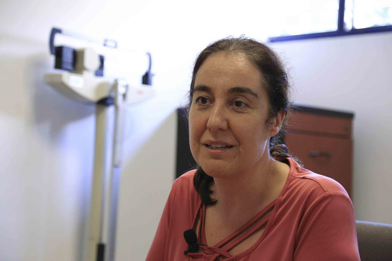la doctora Ana Sandoval Rodríguez fue entrevistada en el lactario