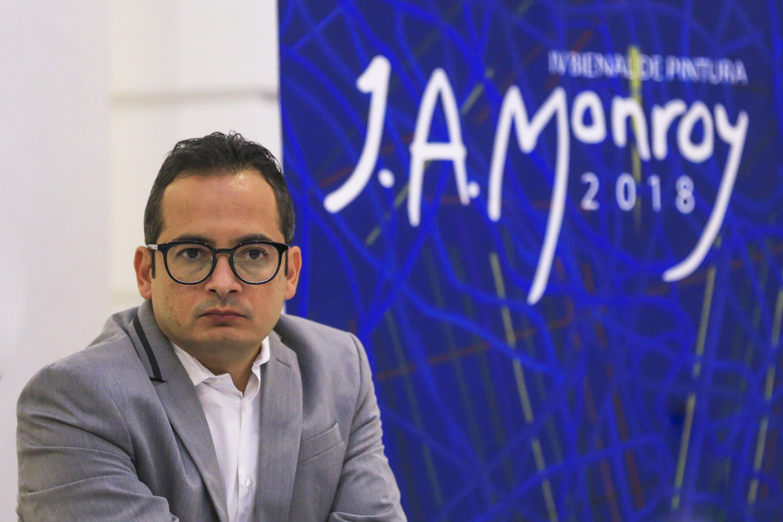 El Director de Museos y Exposiciones, de la Secretaría de Cultura Jalisco, licenciado Joao Armando Rodríguez Murillo durante la rueda de prensa