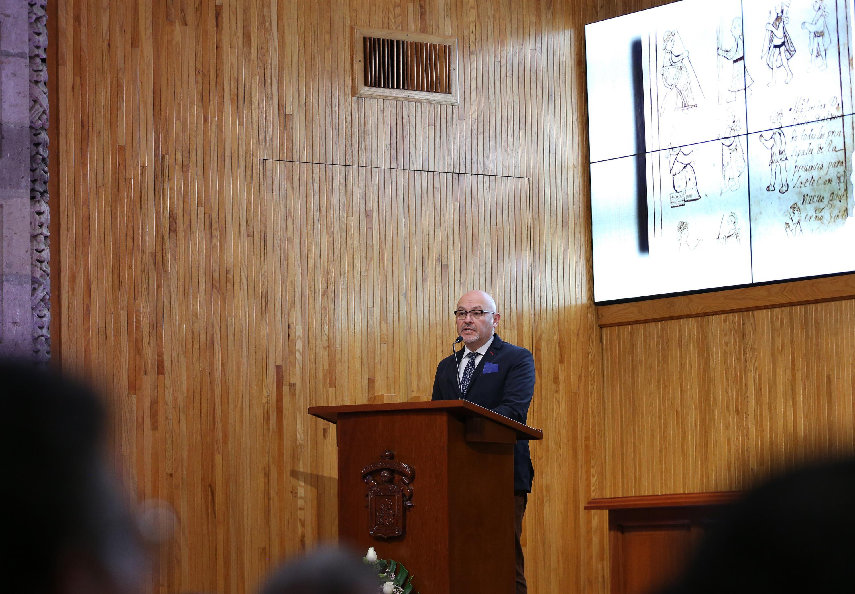 Historiador Óscar Mazín Gómez, profesor investigador del Centro de Estudios Históricos de El Colegio de México, Secretario de la Mesa Directiva de la Academia Mexicana de la Historia, y miembro del Sistema Nacional de Investigadores, nivel III.