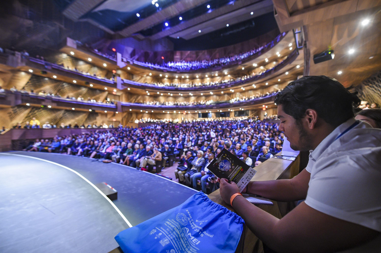 Vista panoramica del auditorio donde se realizo la Asamblea