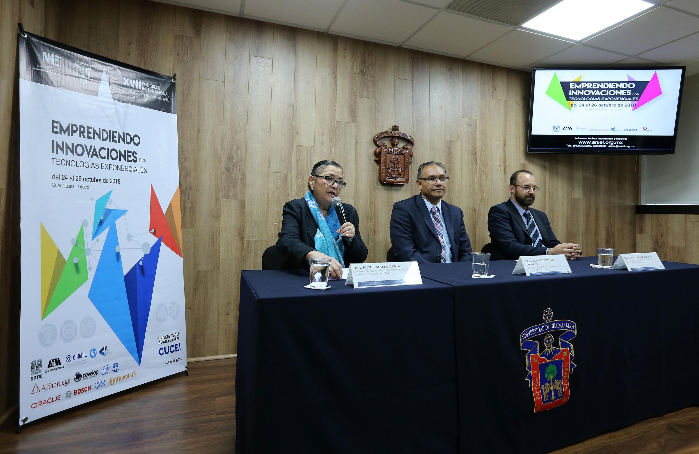 Rueda de prensa para anunciar el décimo séptimo Congreso Internacional de Informática y Computación, de la Asociación Nacional de Instituciones de Educación en Tecnologías de Información (ANIEI)