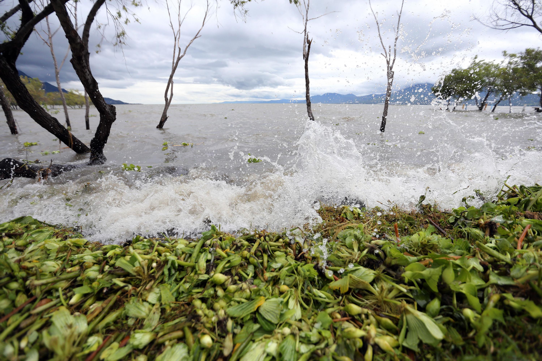 Vista del Lago de Chapala en la actualidad despues del temporal de lluvias