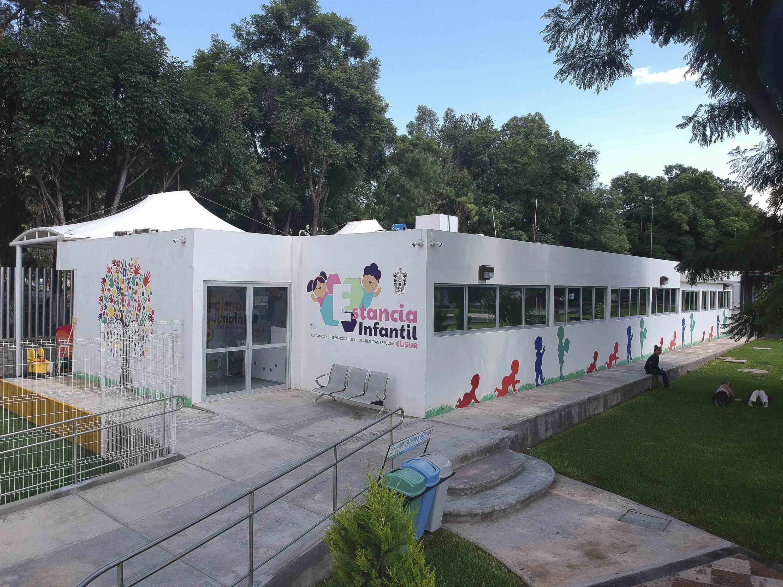 Vista panorámica de la Estancia Infantil del Centro Universitario del Sur, con sede en Ciudad Guzmán,
