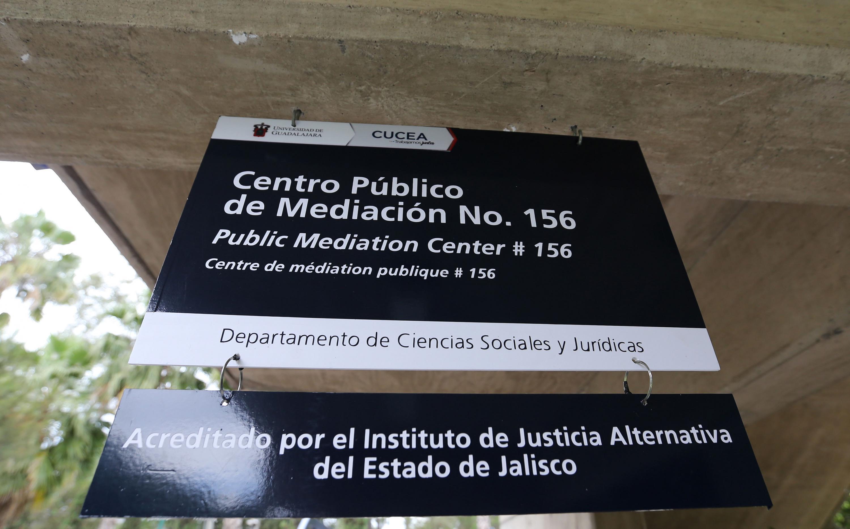 Anuncio que informa Centro Público de  Prestación de Servicios de Métodos Alternativos 156 está avalado por el Instituto de Justicia Alternativa