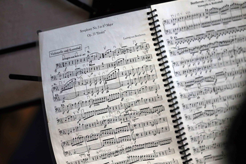 Partitura de la tercer sinfonía de Beethoven