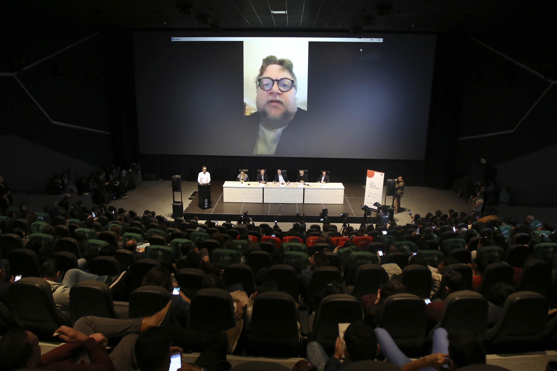Vista panoramica de la Sala Guillermo del Toro durante la presentacion