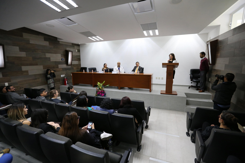 Acto inagural del primer Coloquio de la Maestría en Psicología de la Salud, en el auditorio Wenceslao Orozco del CUCS.