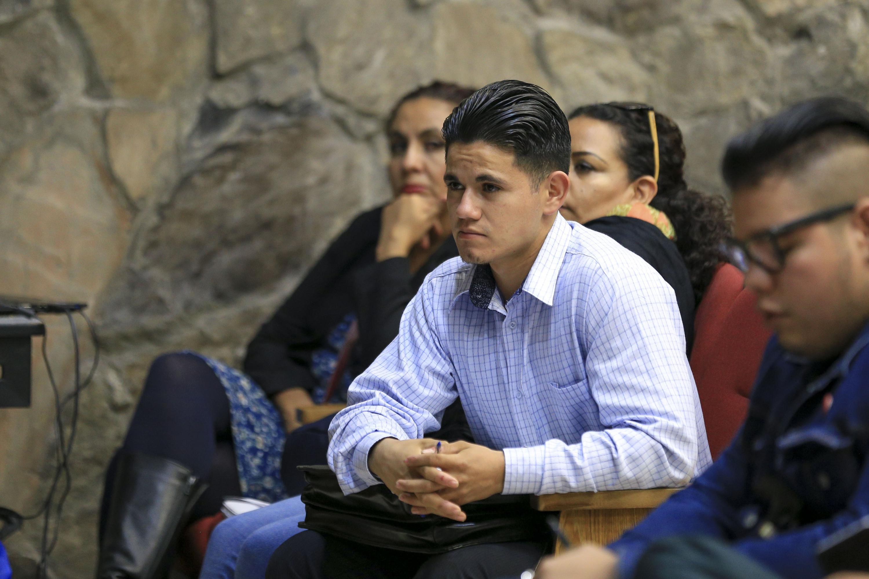 Alumnos de derecho presentes en el auditorio auditorio Carlos Ramírez Ladewig