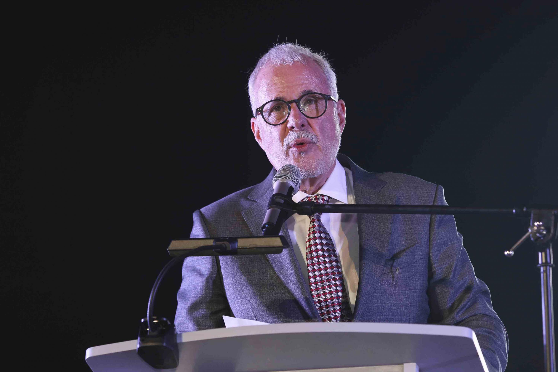 El licenciado Raúl Padilla López, presidente de la Feria Internacional del Libro de Guadalajara