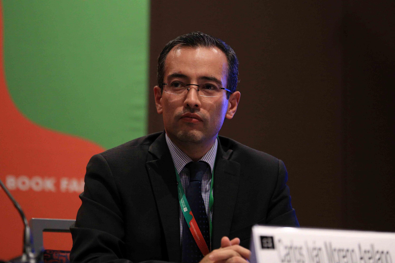 Panel moderado por el Coordinador General de Cooperación e Internacionalización de la UdeG, doctor Carlos Iván Moreno