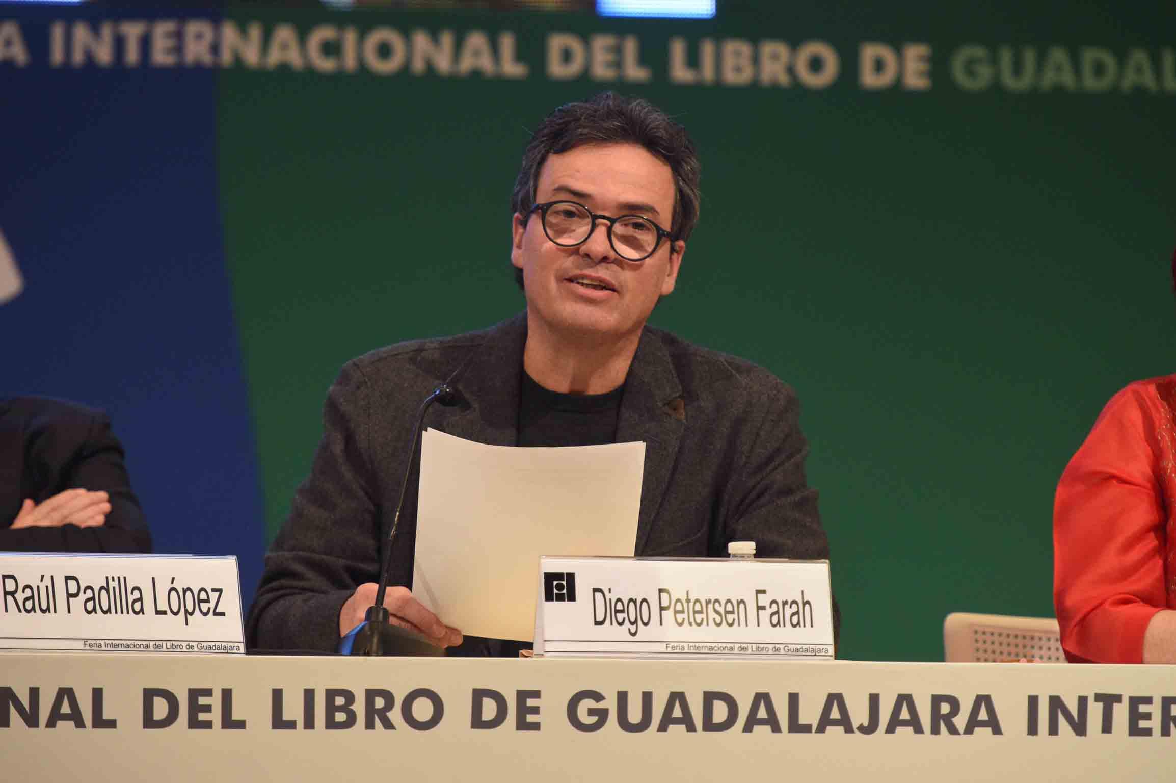 Diego Petersen Farah participando en el homenaje a Benito Taibo
