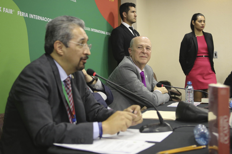 El rector de la Universidad Michoacana de San Nicolás de Hidalgo hablo durante la presentación