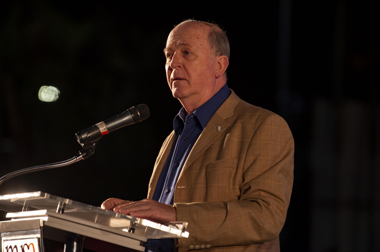 El Rector General de la Universidad de Guadalajara, doctor Miguel Ángel Navarro Navarro hablo durante el evento