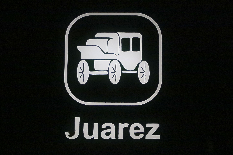 Icono de la estacion Juarez es representado por un carruaje