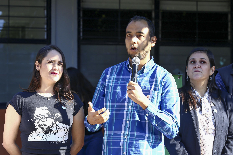 Hablo durante el evento Jesús Medina Varela, Presidente de la Federación de Estudiantes Universitarios