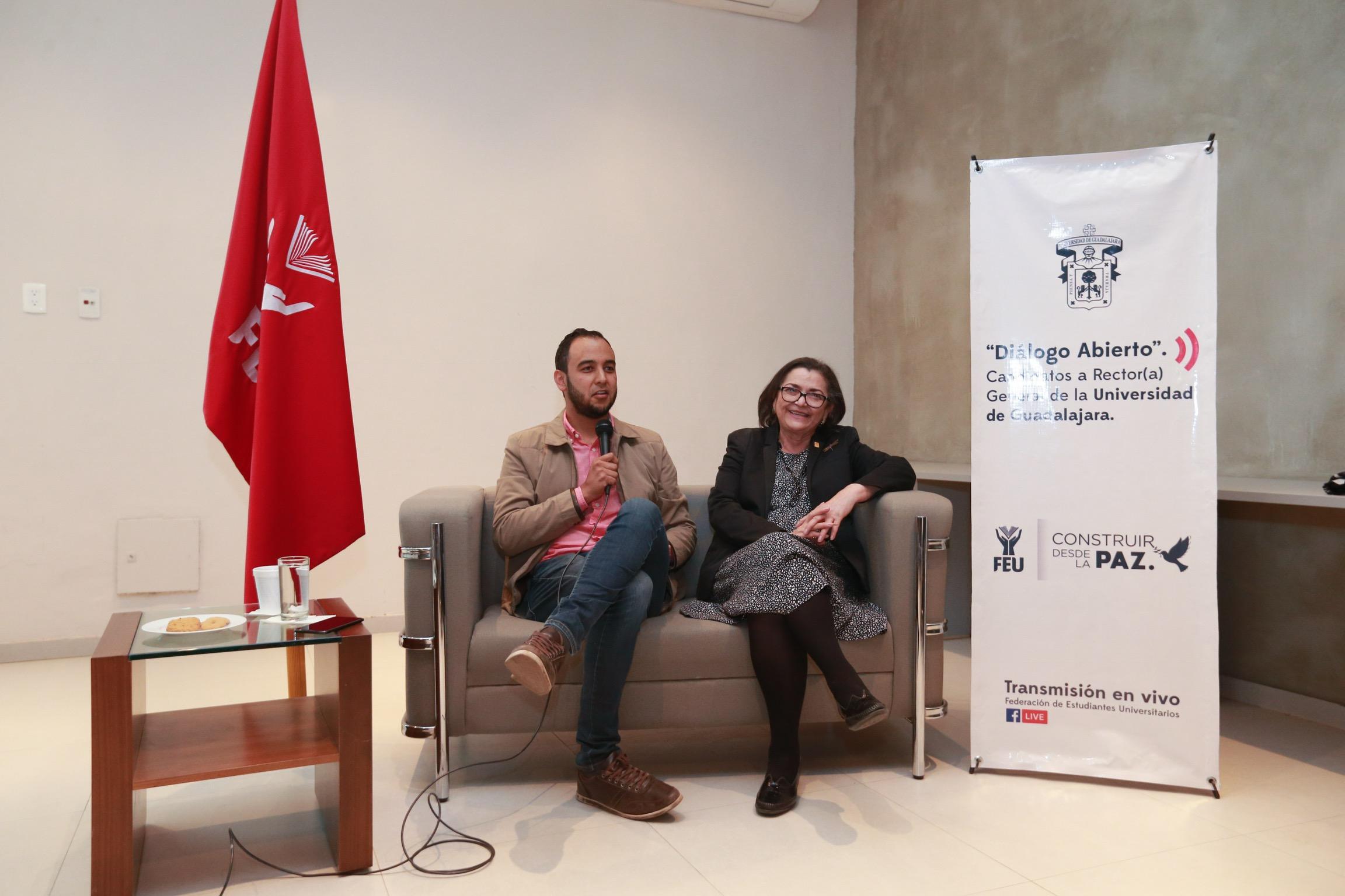 El Presidente de la FEU, Jesús Medina Varela entrevistó a la doctora Ruth Padilla