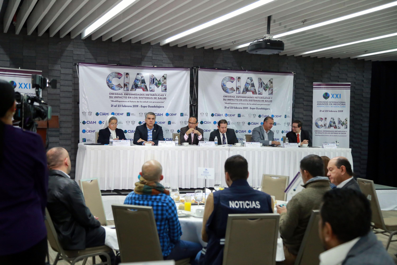 En el salon de un hotel se hizo la rueda de prensa del CIAM 2019