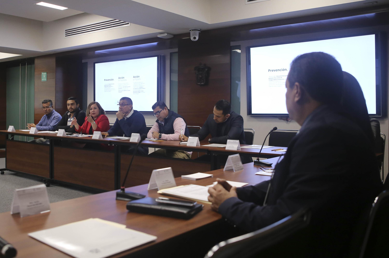 Vista general de la reunion de trabajo del equipo de seguridad de la ANUIES