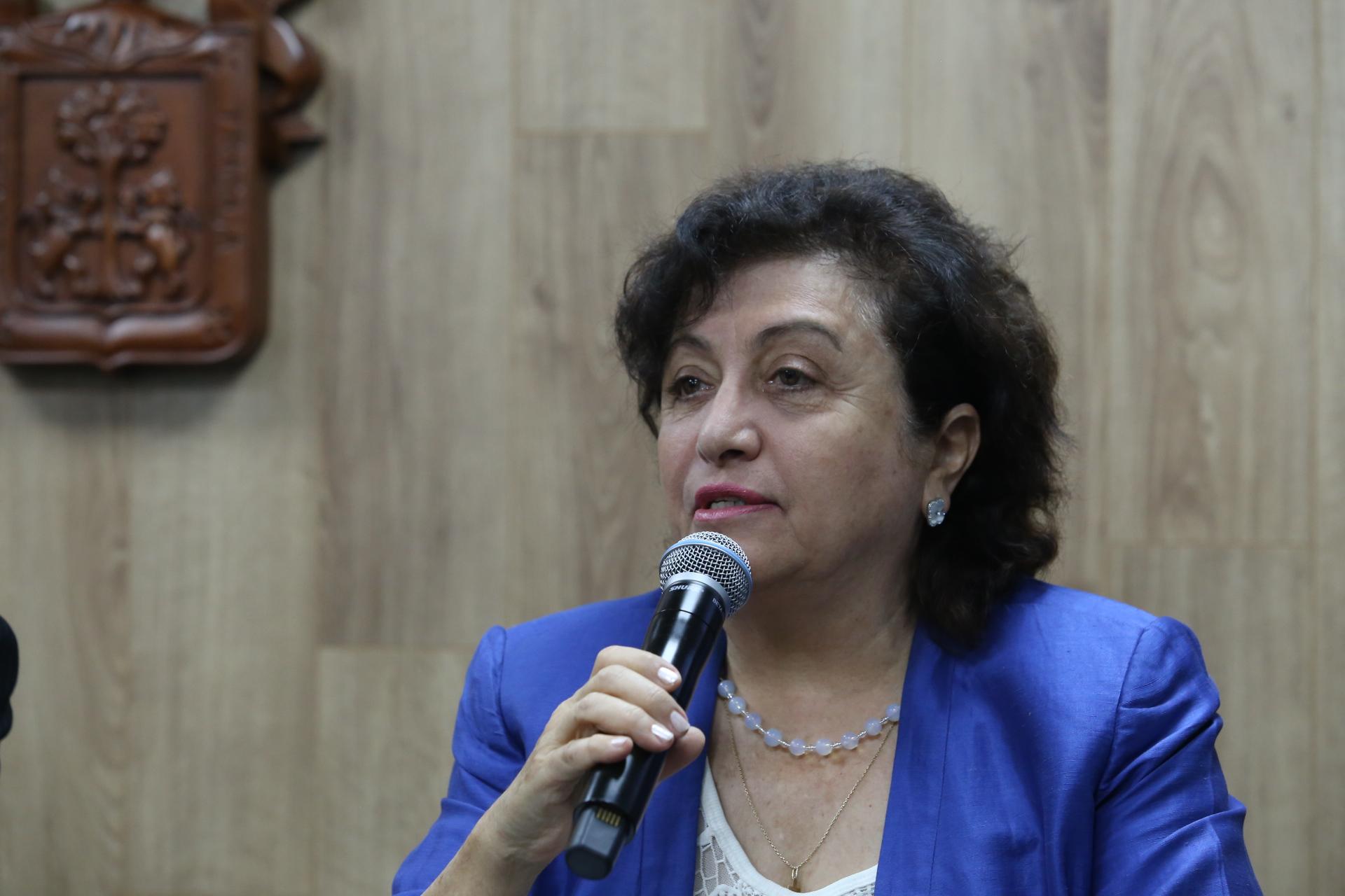 La Directora de la Cátedra UNESCO de Innovación Social y Emprendimiento, doctora Elia Marúm Espinosa, en uso de la palabra