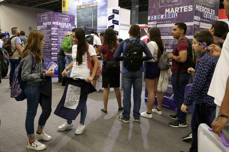 Público asistente a la segunda edición de Jalisco Talent Land 2019, en el recinto Expo Guadalajara