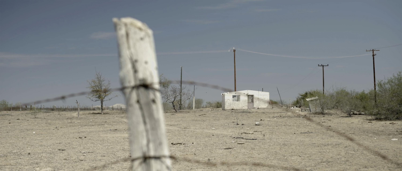Casa en medio del desierto de la Península de Baja California