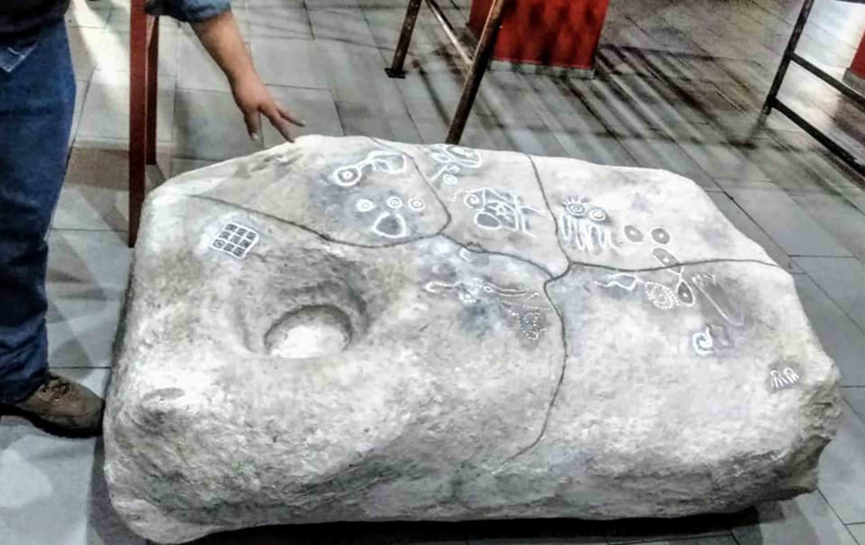 """Petrograbado """"Rosetta de San Agustín"""" o también llamada """"La Pata de Mula"""", ubicado en el lomerío de """"La Piedrera"""", en Tlajomulco de Zúñiga"""