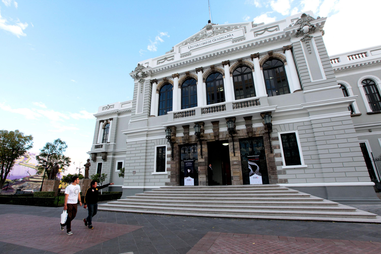 Fachada del Museo de las Artes (MUSA) de la Universidad de Guadalajara (UdeG)