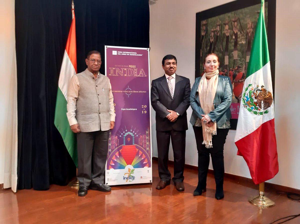 Autoridades de la Universidad de Guadalajara y de la India país invitado al Feria Internacional de Libro de Guadalajara presentan programa de actividades