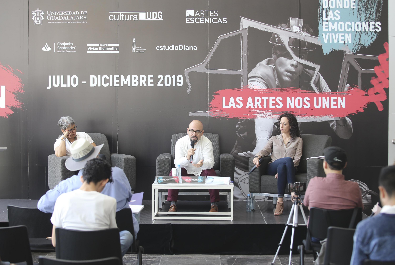 Autoridades universitarias en Rueda de Prensa para presentar cartelera teatral del segundo semestre 2019