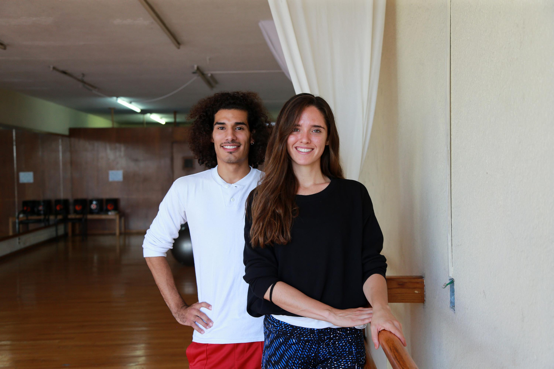 Los bailarines de danza contemporánea: Alejandra Cole, Alberto Marín
