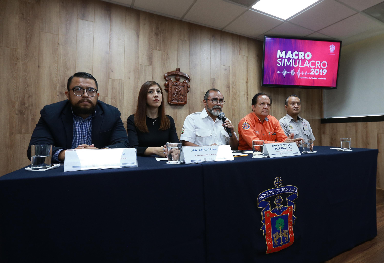 En conferencia de prensa, los Jefes de la Unidad de Protección Civil de la Universidad de Guadalajara, participarán en el segundo macrosimulacro de evacuación 2019