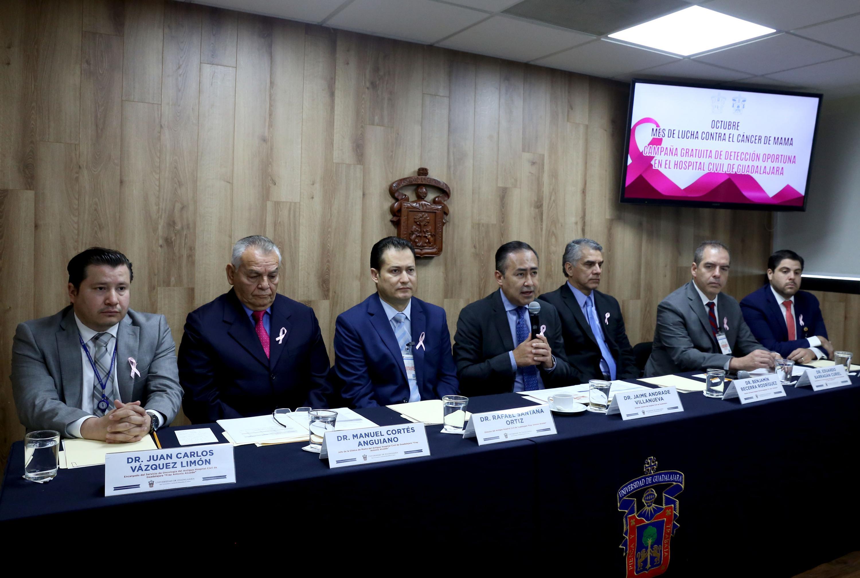 Autoridades del Hospital Civil de Guadalajara (HCG) realizará, del 2 al 31 de octubre, la campaña de lucha contra el cáncer de mama