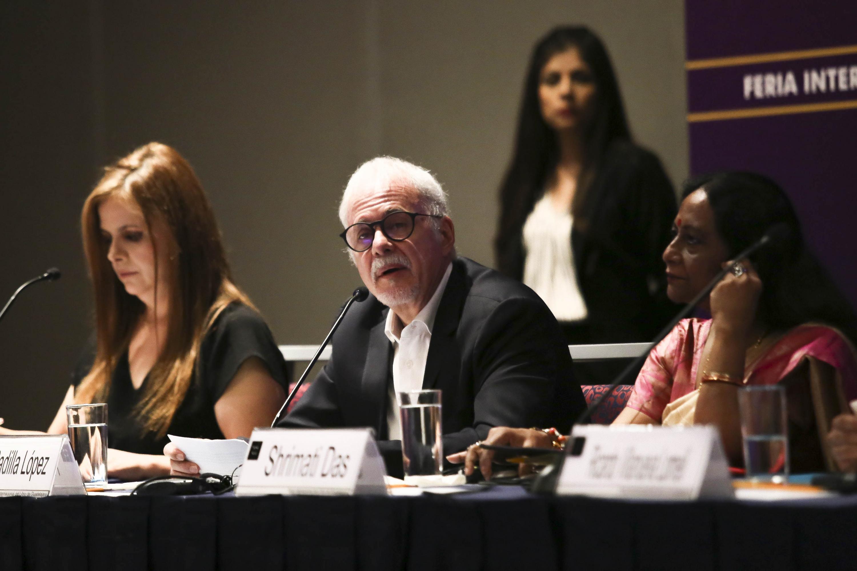 El Presidente de la FIL, licenciado Raúl Padilla López en uso de la palabra